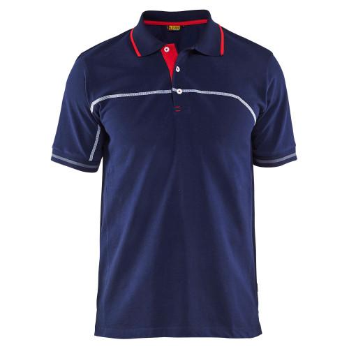 BLÅKLÄDER Polo Shirt marineblau/rot - Vorderseite