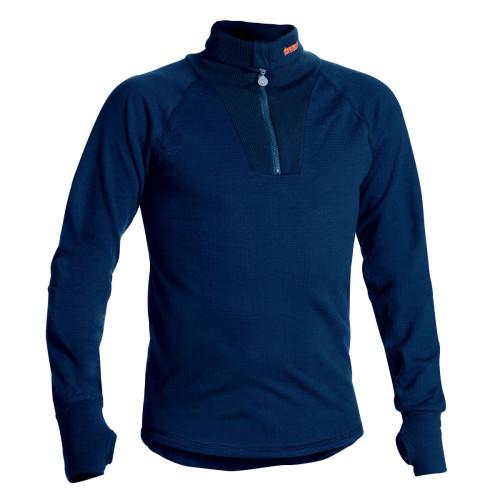 TERMO® ORIGINAL Polo Unterhemd mit Reissverschluss Blau
