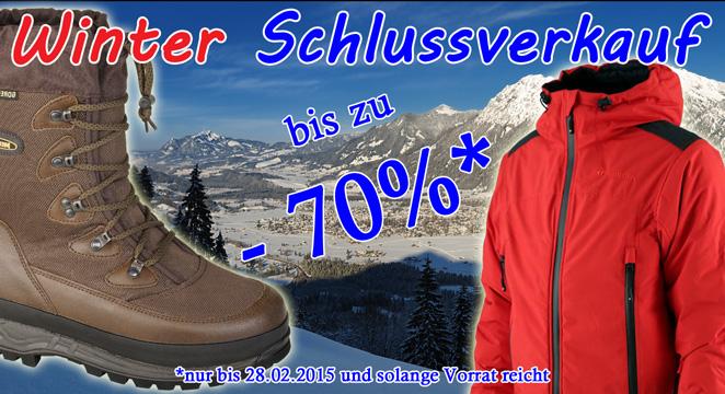 Winterschlussverkauf bei Bader-Outdoor.de