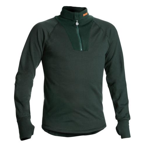 TERMO® ORIGINAL Polo Unterhemd mit Reissverschluss Oliv