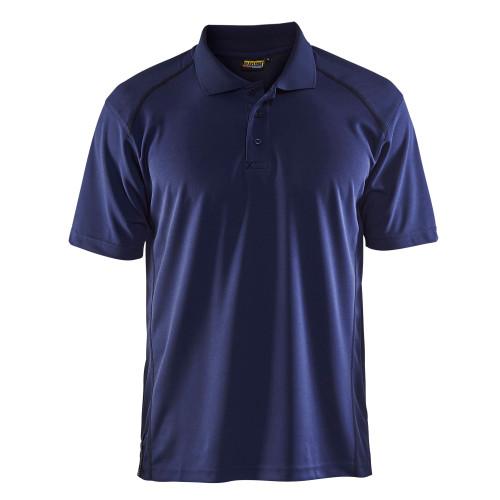 BLÅKLÄDER Polo Shirt mit UV Schutz marineblau - Vorderseite