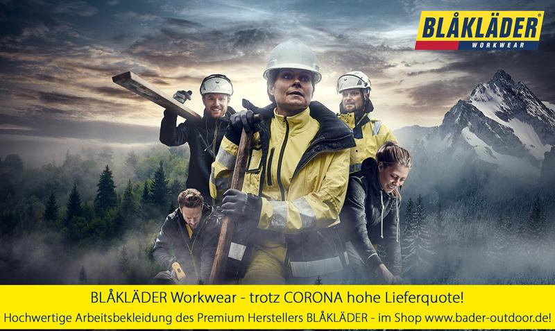 Blaklader Workwear trotz Corona hohe Lieferfähigkeit - www.bader-outdoor.de