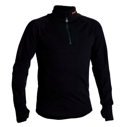 TERMO® ORIGINAL Polo Unterhemd mit Reissverschluss Schwarz