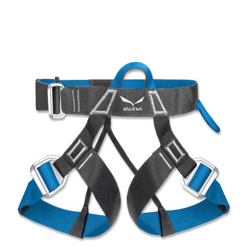 SALEWA Klettergurt Via Ferrata Evo carbon/blau