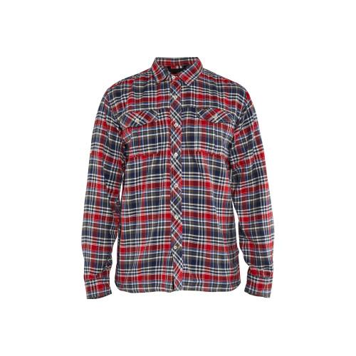 BLÅKLÄDER Flanellhemd marineblau/rot - Vorderseite